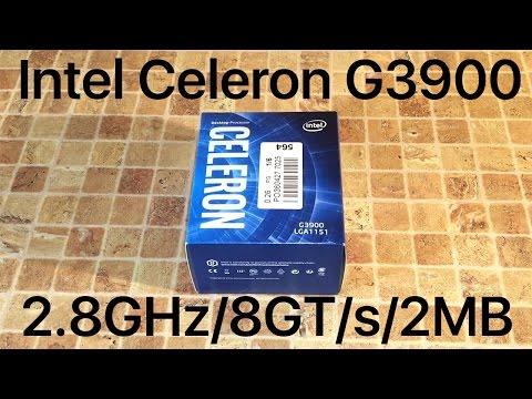 Распаковка и обзор процессора Intel Celeron G3900 + тесты производительности