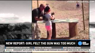911 call after girl shot instructor with Uzi released