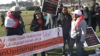 شباب حركة قرفنا يشعلون ساحة الكونجرس بالاشعار الثورية و الاعمال الفنية يوم ١٦ فبراير ٢٠١٩