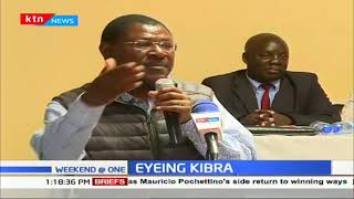 Party leaders pitch tent in Kibra