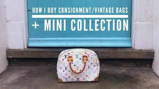 How I Buy Consignment/Vintage Bags + Mini Collection + Tips | wenwen stokes