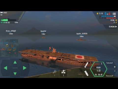 Battle of Warship Android - Akagi gameplay