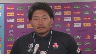 ラグビーW杯、日本代表談話(6) 1次リーグ、日本-スコットランド