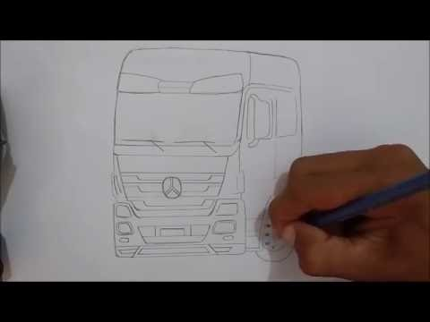 desenhando caminhão mercedes benz actros youtube