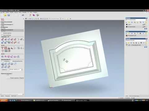 автоматическое создание фасада в Corel Draw  и УП ArtCam