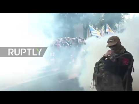 Ukraine: Tables turned as nationalists pepper spray POLICE as clashes hit parliament