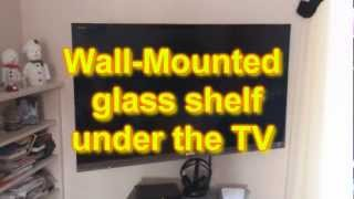 Wall Mounted Glass Shelf Under Tv