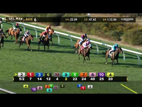 Overjoyed Wins Race 6 At Del Mar 11/09/19