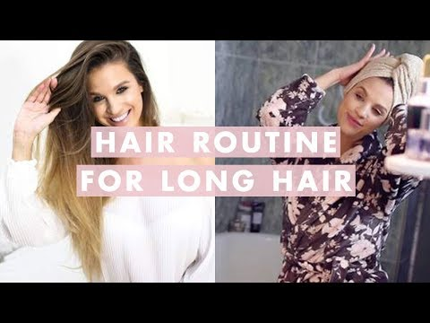Hair Routine for Long Hair: How To Wash, Dry, and Style   Luxy Hair