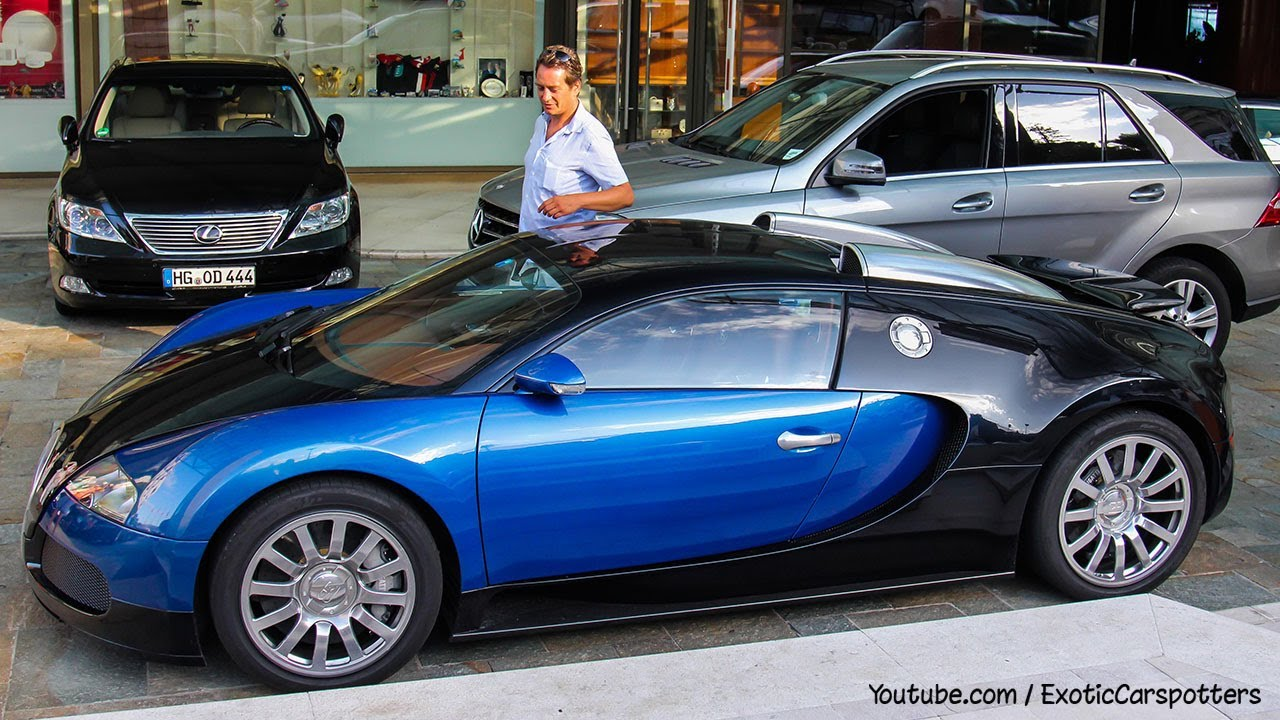 Epic Blue Car Wallpapers Girl Drives Bugatti Veyron 16 4 In Monaco Start Up