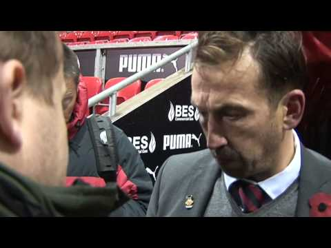 Justin Edinburgh post match iv Fleetwood (A) 2Nov13