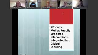 #FacultyMatter: Faculty Support and Interventions Integrated into Global Learning