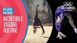 What Happens When an Olympic Gymnast Goes for a Run? | Flow Mode