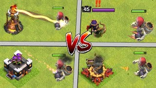 GIANT SKELETON vs ALL DEFENCES! Clash of Clans Halloween Update - CoC New Troop Attacks 2017!