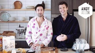 Ben's Blueberry And Bran Smoothie | #doublethegoodness With Andy & Ben
