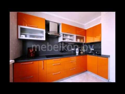 Черно-оранжевые кухни в интерьере фото