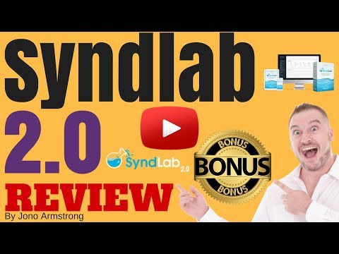 Syndlab 2.0 Review [WARNING] DON'T BUY SYNDLAB 2 WITHOUT MY **CUSTOM** BONUSES! [Syndlab 2.0 review]. http://bit.ly/2PlLNR0