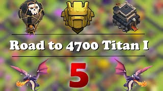 TH9 in Titan over 4600 | Live Attacks + Def against maxed TH10 | Road to 4700 #5 | Clash of Clans