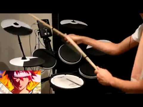 Shokugeki no Souma: San no Sara OP 【BRAVER】 ZAQ  Drum