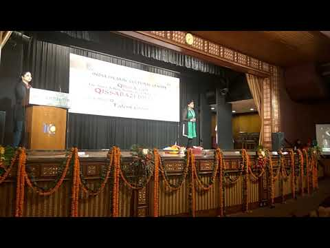 Qissa on urdu hurf presenting in qissabazi delhi 6 ki @IndiaIslamic cultural centre by mcd sch child