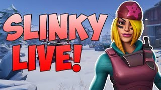 "🔴1100+ Wins // Health and Mats Per Kill 😍(Use code ""ThaSlinky"") // Fortnite Xbox LIVE"