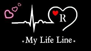R My Life Line R Name Dp For Whatsapp R Name Dp R Letter Dp R Alphabet Dp R Name Ki Dp Love Youtube