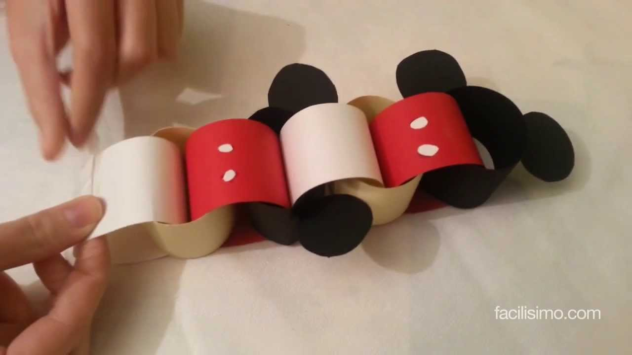 Cómo hacer una cadeneta de Mickey Mouse | facilisimo.com - YouTube