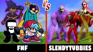 Friday Night Funkin' vs. Slendytubbies | Minecraft (Oh no!)