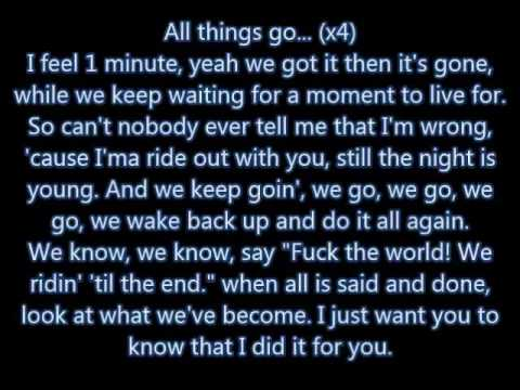 "Nicki Minaj - ""All Things Go"" lyrics"