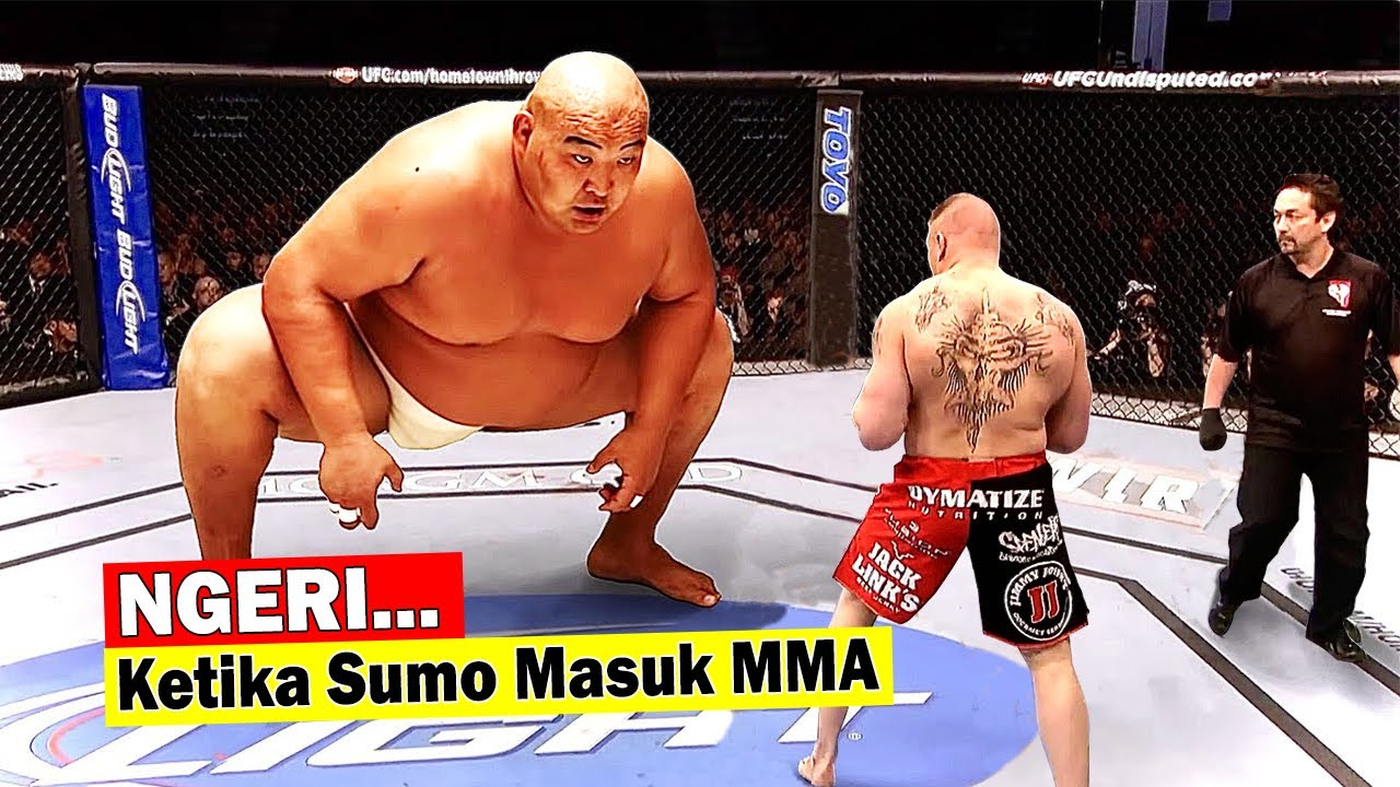 Geger‼️ Pegulat SUMO NANTANG PETARUNG MMA, Lihat Akhirnya.....