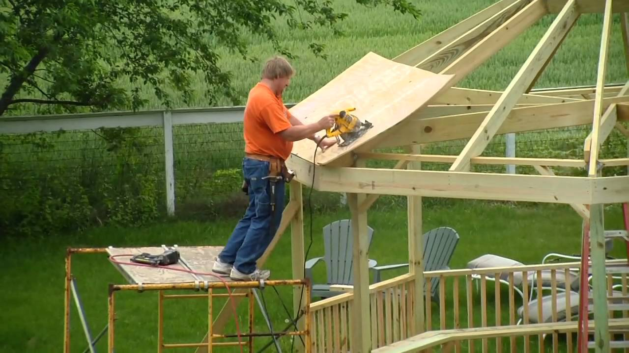 Gazebo Construction - YouTube