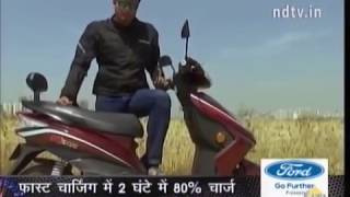 Okinawa Ridge Electric Scooter : Exclusive review ( Raftaar NDTV India )