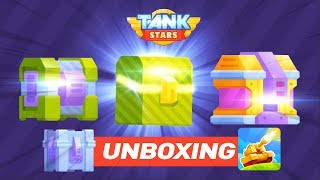 【Bowmasters Tank Stars】 Heroic chest, Epic Chest and Legendary chest unboxing