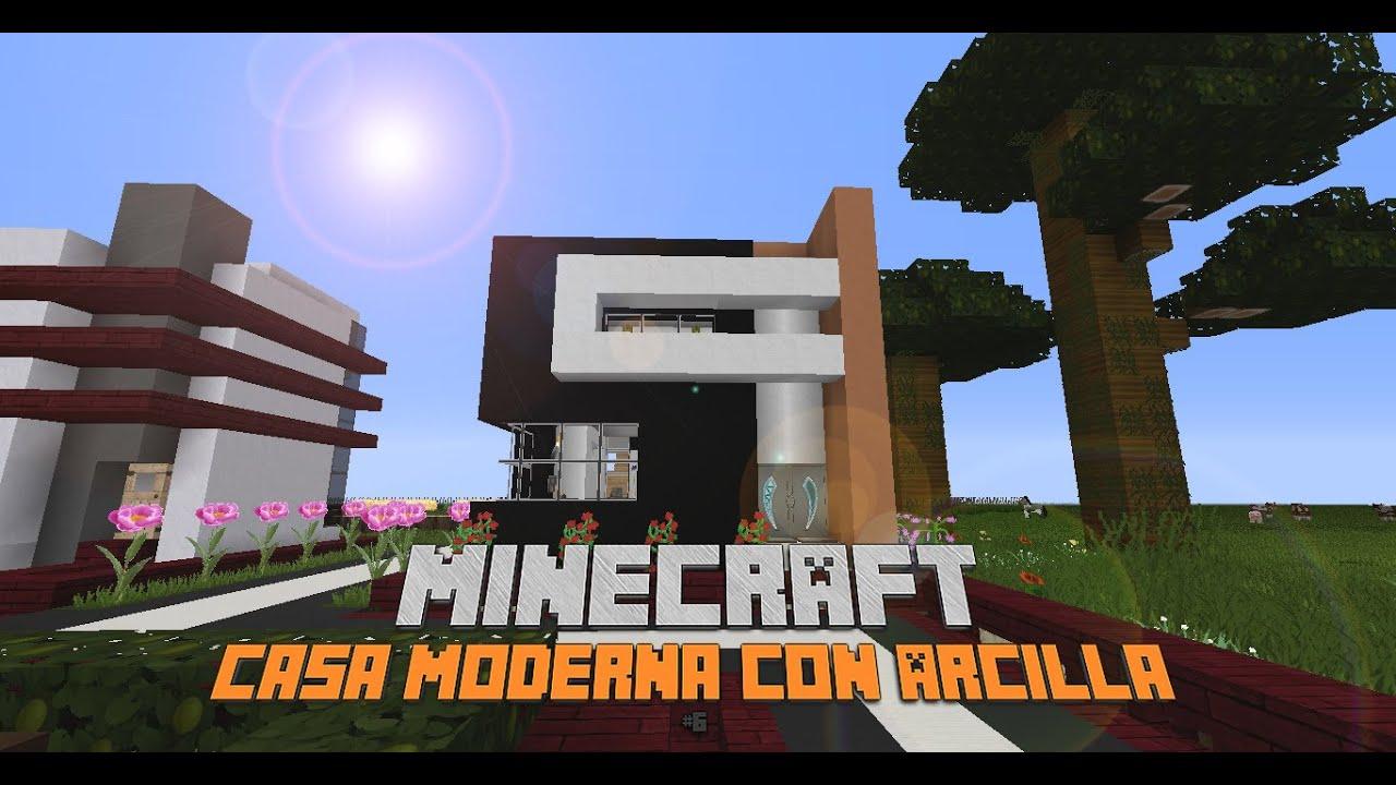Minecraft como hacer una moderna de arcilla 10x10 casa for Casa moderna minecraft 0 10 4