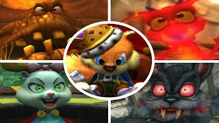 Conker: Live & Reloaded - All Bosses + Cutscenes