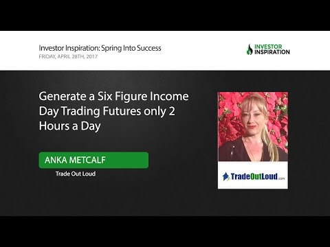 Generate a Six Figure Income Day Trading Futures only 2 Hours a Day | Anka Metcalf