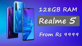 Realme 5 upto 128GB memory launched from Rs 9999