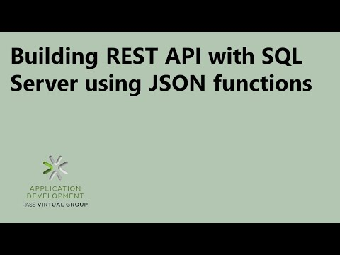 Building REST API with SQL Server using JSON functions