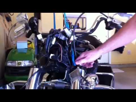 Install Of Drop In Lowering Kit On Road King YouTube