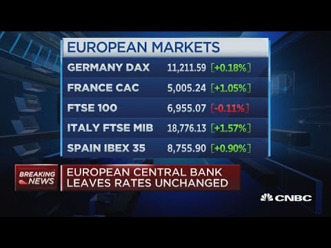 European Central Bank leaves rates unchanged through summer 2019
