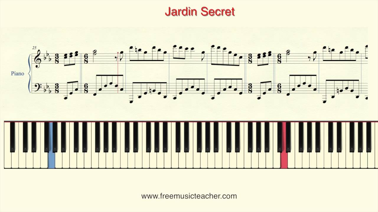 How to play piano richard clayderman jardin secret for Jardin secret piano
