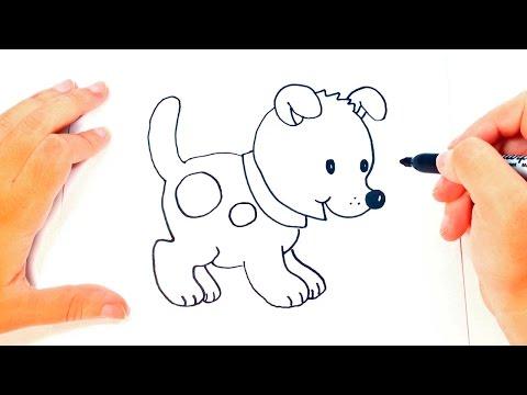 Cómo dibujar un Perrito paso a paso | Dibujo fácil de Perrito