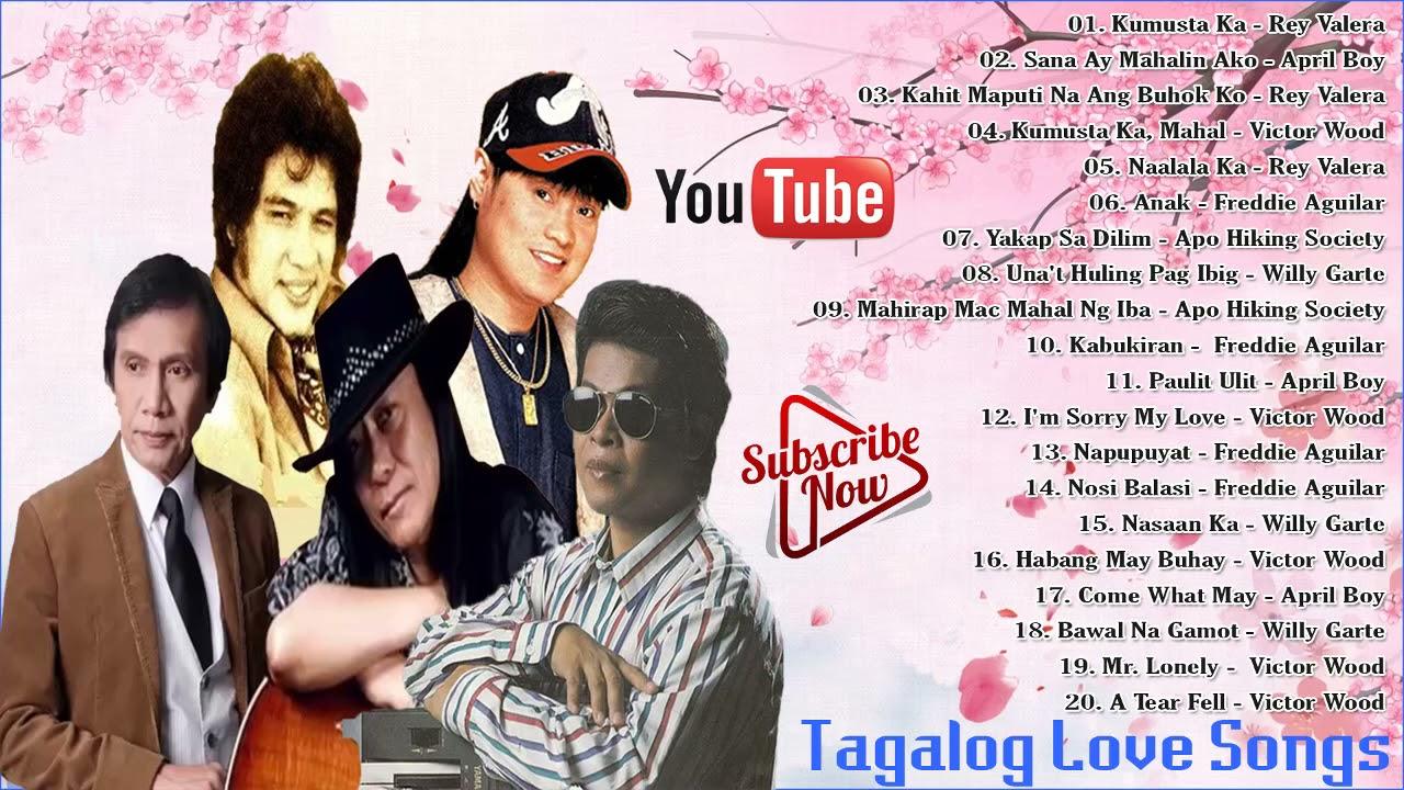 April Boy,Victor Wood,Freddie Aguilar,Rey Valera, Willy Garte Greatest Hist Tagalog Love Song 2021