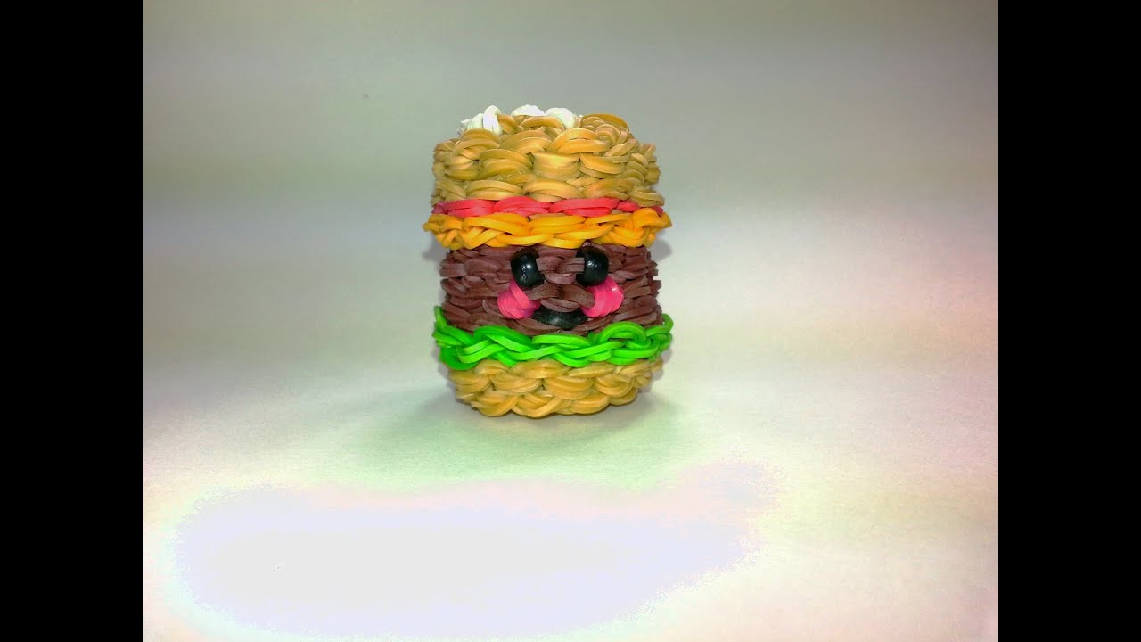 3 D Happy Hamburger Tutorial By Feelinspiffy Rainbow Loom