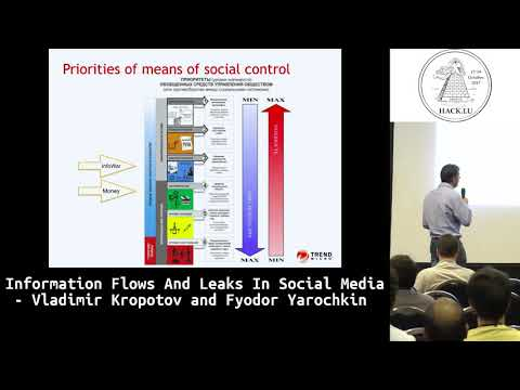 Hack.lu 2017 Information Flows and Leaks in Social Media by Vladimir Kropotov and Fyodor Yarochkin