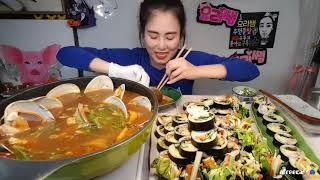 먹방 요리쌤 김밥대란 라면말고짬뽕탕 야방집밥쿡방먹방mu…