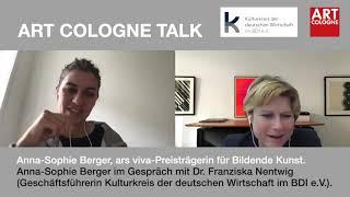 Anna-sophie berger, ars viva prizewinner for visual arts in conversation with dr. franziska nentwig, managing director of the kulturkreis der deutschen wirts...