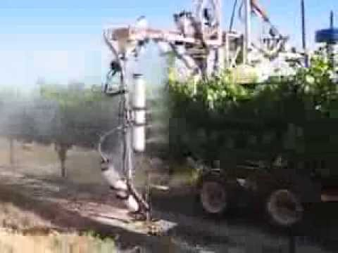 On Target Spray Systems Two Row Vineyard Sprayer Youtube
