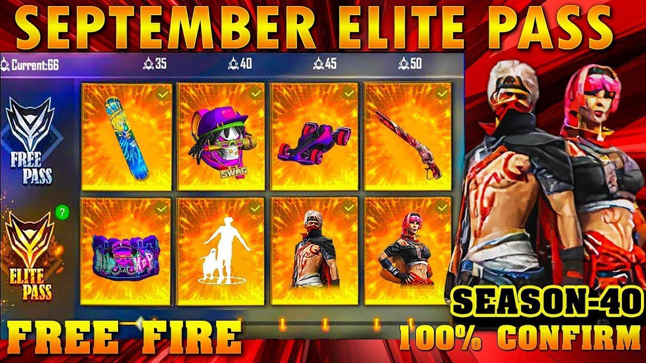 september elite pass free fire 2021 Season 40 ELITE PASS Full Video | September elite pass free fire
