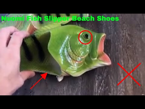 ✅  How To Use NUOMI Fish Slipper Beach Shoes Review